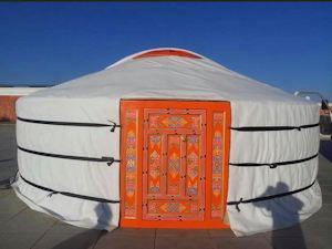行方市が購入するモンゴルの伝統的組み立て式住居「ゲル」(市企画政策課提供)